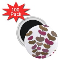 Magenta decorative plant 1.75  Magnets (100 pack)