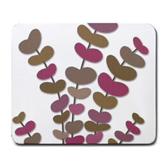 Magenta decorative plant Large Mousepads