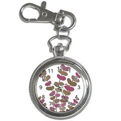 Magenta decorative plant Key Chain Watches