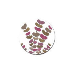 Magenta decorative plant Golf Ball Marker (10 pack)