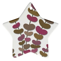 Magenta decorative plant Star Ornament (Two Sides)