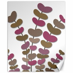 Magenta decorative plant Canvas 16  x 20