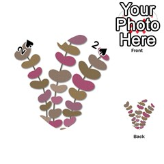 Magenta decorative plant Playing Cards 54 (Heart)