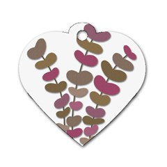 Magenta decorative plant Dog Tag Heart (Two Sides)