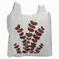 Magenta decorative plant Recycle Bag (Two Side)