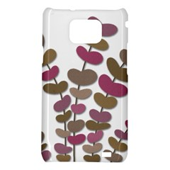 Magenta decorative plant Samsung Galaxy S2 i9100 Hardshell Case