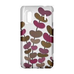 Magenta decorative plant HTC Evo Design 4G/ Hero S Hardshell Case