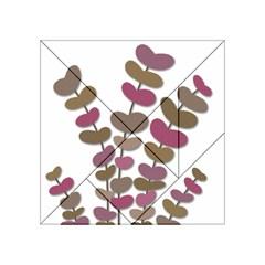 Magenta decorative plant Acrylic Tangram Puzzle (4  x 4 )