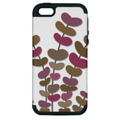 Magenta decorative plant Apple iPhone 5 Hardshell Case (PC+Silicone)