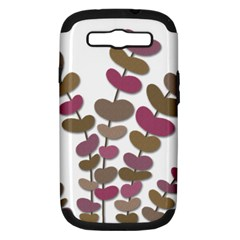 Magenta decorative plant Samsung Galaxy S III Hardshell Case (PC+Silicone)