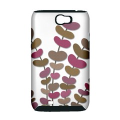 Magenta decorative plant Samsung Galaxy Note 2 Hardshell Case (PC+Silicone)