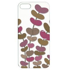 Magenta decorative plant Apple iPhone 5 Hardshell Case with Stand