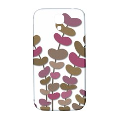 Magenta decorative plant Samsung Galaxy S4 I9500/I9505  Hardshell Back Case