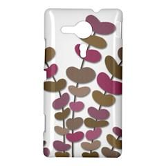 Magenta decorative plant Sony Xperia SP