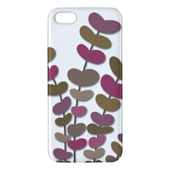 Magenta decorative plant iPhone 5S/ SE Premium Hardshell Case