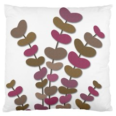Magenta decorative plant Large Flano Cushion Case (One Side)