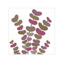 Magenta decorative plant Small Satin Scarf (Square)