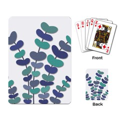 Blue decorative plant Playing Card