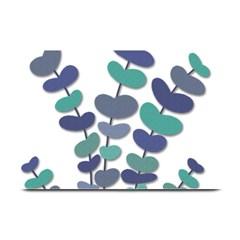Blue decorative plant Plate Mats
