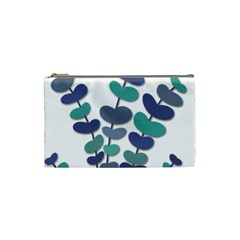 Blue decorative plant Cosmetic Bag (Small)