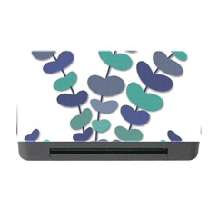 Blue decorative plant Memory Card Reader with CF