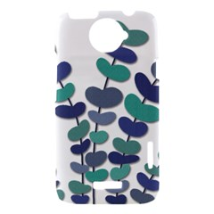 Blue decorative plant HTC One X Hardshell Case