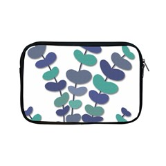 Blue decorative plant Apple iPad Mini Zipper Cases