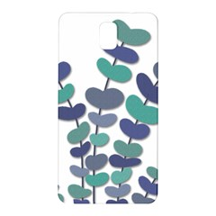Blue decorative plant Samsung Galaxy Note 3 N9005 Hardshell Back Case