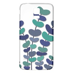 Blue decorative plant Samsung Galaxy S5 Back Case (White)