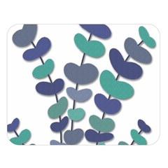 Blue decorative plant Double Sided Flano Blanket (Large)