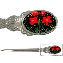 Red flowers Letter Openers