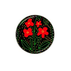 Red flowers Hat Clip Ball Marker