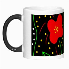 Red Flowers Morph Mugs