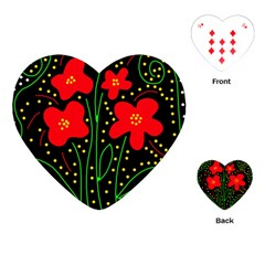 Red flowers Playing Cards (Heart)
