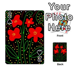 Red flowers Playing Cards 54 Designs