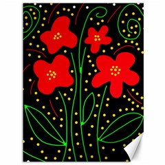 Red flowers Canvas 36  x 48