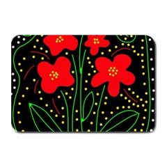 Red flowers Plate Mats