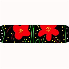 Red flowers Large Bar Mats