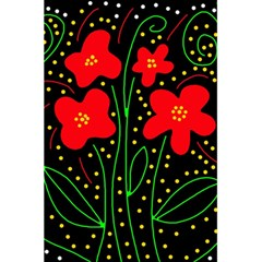 Red flowers 5.5  x 8.5  Notebooks