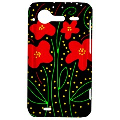 Red flowers HTC Incredible S Hardshell Case