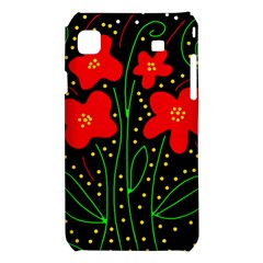 Red flowers Samsung Galaxy S i9008 Hardshell Case