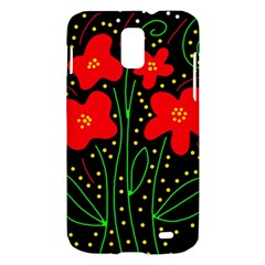 Red flowers Samsung Galaxy S II Skyrocket Hardshell Case
