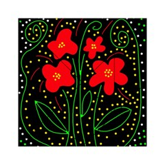 Red flowers Acrylic Tangram Puzzle (6  x 6 )