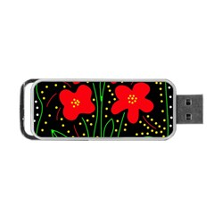 Red flowers Portable USB Flash (Two Sides)