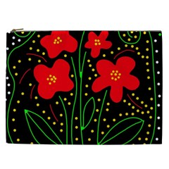 Red flowers Cosmetic Bag (XXL)