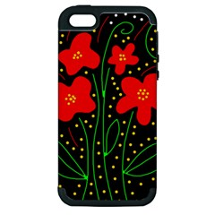 Red flowers Apple iPhone 5 Hardshell Case (PC+Silicone)