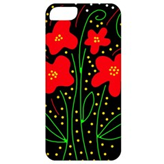 Red flowers Apple iPhone 5 Classic Hardshell Case