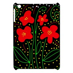 Red flowers Apple iPad Mini Hardshell Case