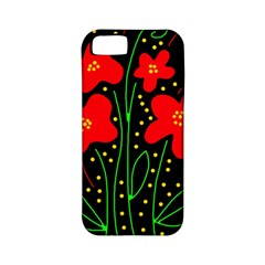 Red flowers Apple iPhone 5 Classic Hardshell Case (PC+Silicone)