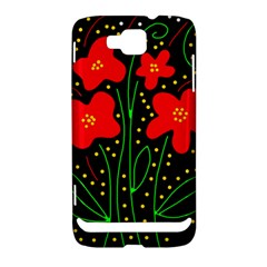 Red flowers Samsung Ativ S i8750 Hardshell Case